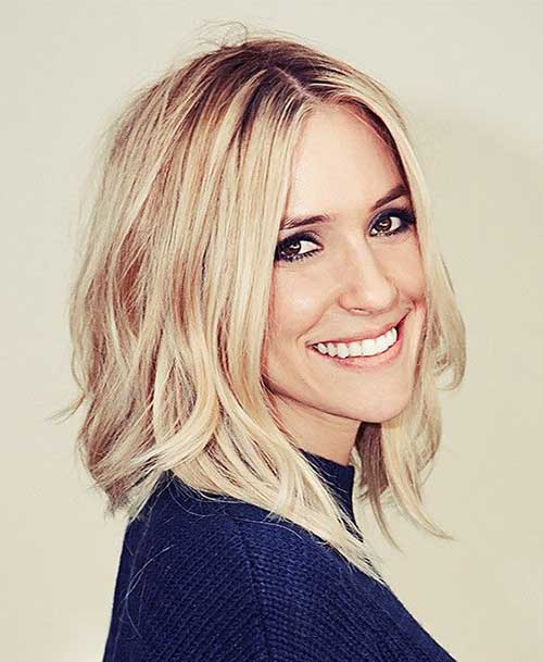 Blonde Mid Length Bob Hairstyles