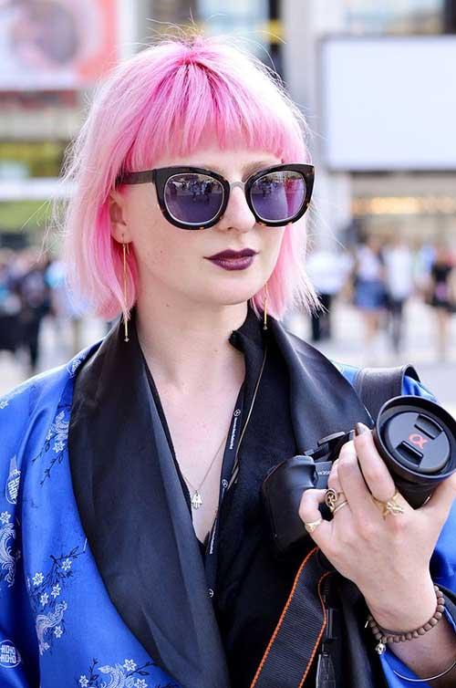 Nice Pink Bob Hair 2014-2015