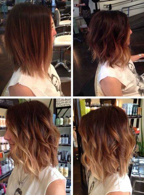 Ombre Mid Length Bob Hairstyles
