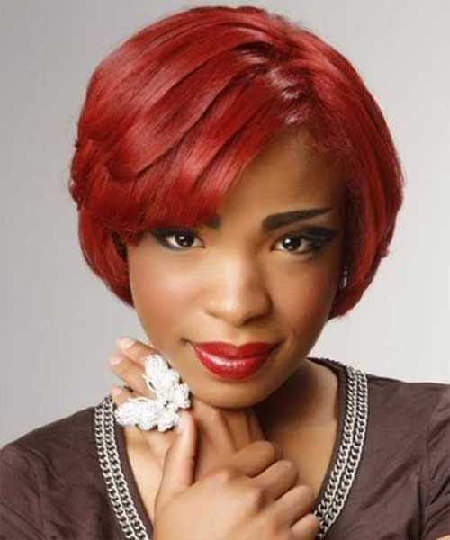 Red Layered Bob Hair for Black Women