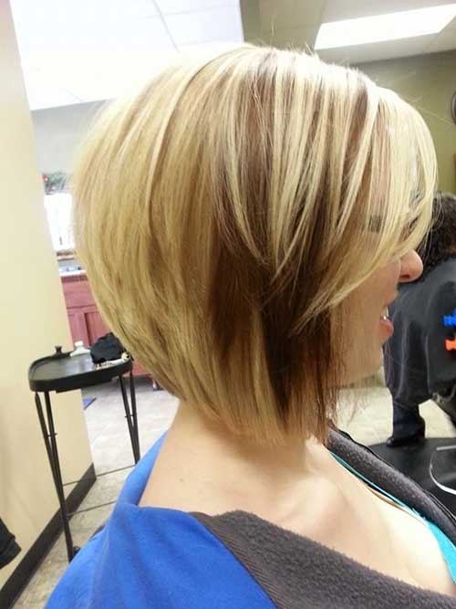 Reverse Blonde Bob Haircut