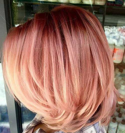 Rose Gold Bob Hair Color Ideas