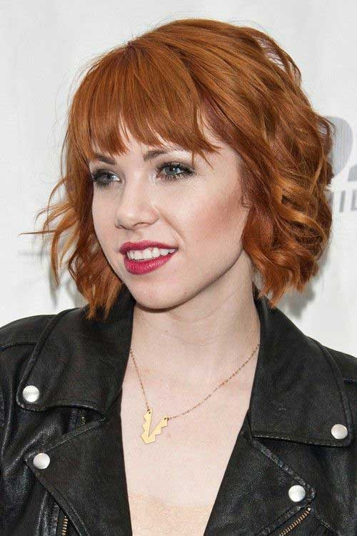 15 cool shaggy bob with bangs bob hairstyles 2018. Black Bedroom Furniture Sets. Home Design Ideas