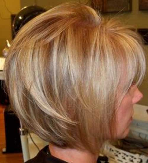 Short Blonde Layered Bob 2014-2015
