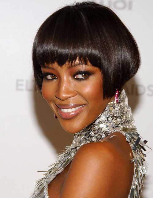 Short Blunt Bob Haircuts for Black Women