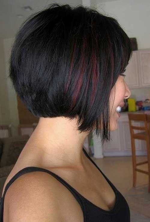 40 best bob hair color ideas bob hairstyles 2017 short short dark bob hair color with red highlights pmusecretfo Choice Image