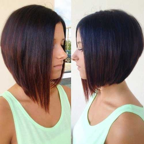 Short Graduated Ombre Bob Cuts