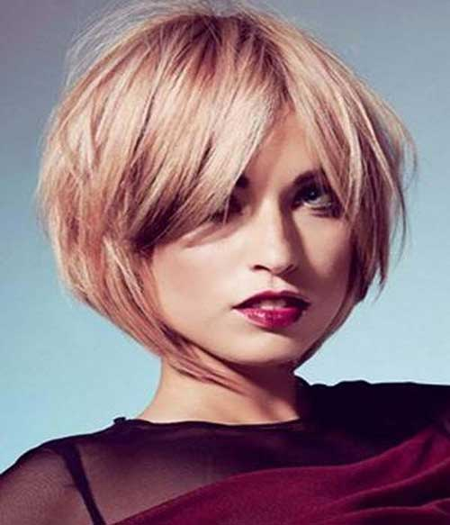 Short Layered Blonde Bob Hairstyles 2014
