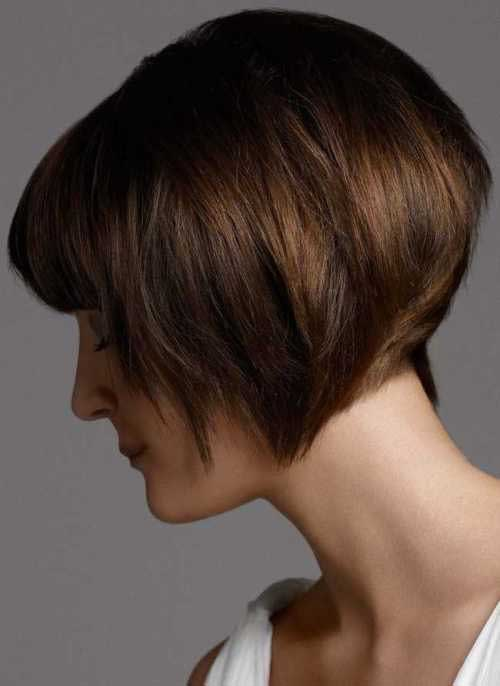 Short Layered Inverted Bob Ideas 2015