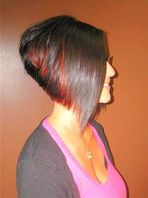 Short Layered Stacked Bob Cut 2015