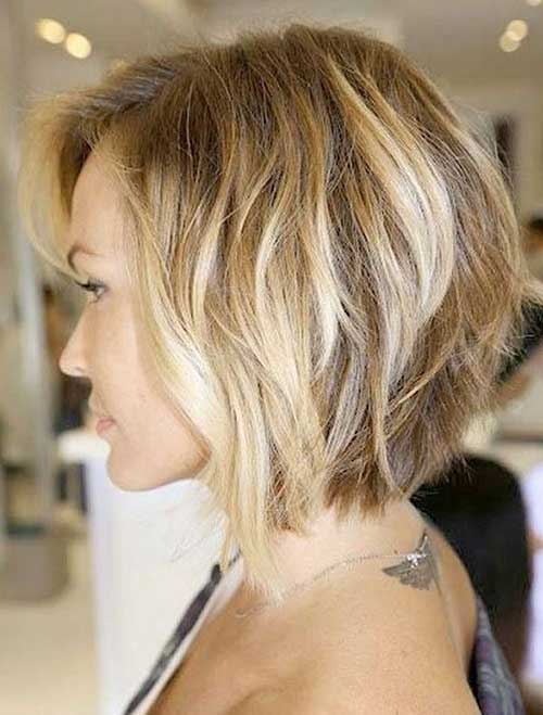 Short Layered Wavy Bob 2014-2015