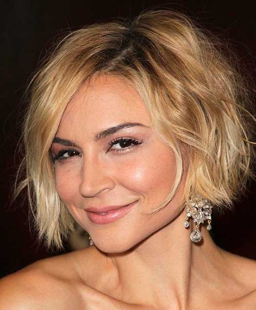 Side Swept Choppy Bob Hairstyles 2014