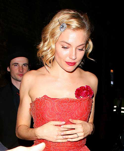 Sienna Miller Curly Bob Hairstyles