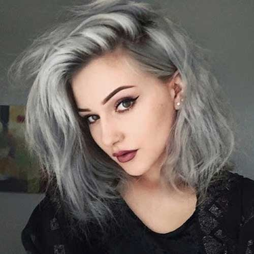 Silver Colored Bob Hair Ideas