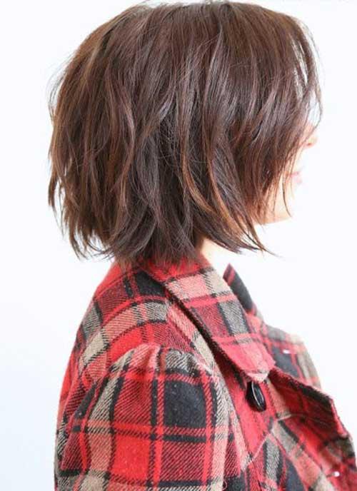 Soft Wavy Brown Bob Hair