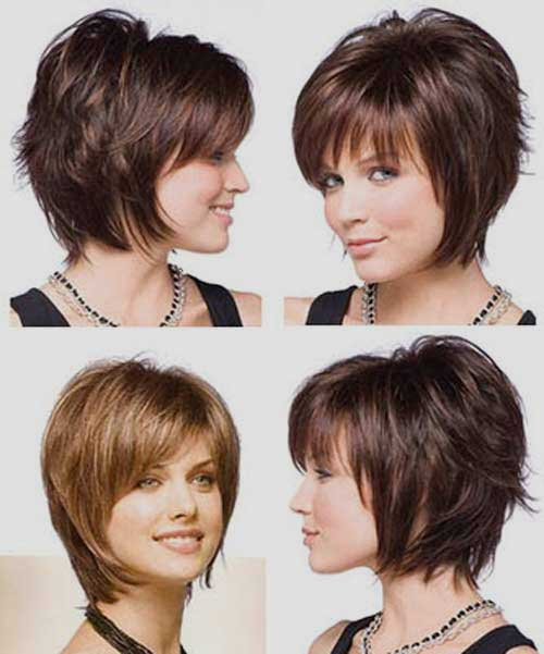 Stacked Choppy Layered Bob With Bangs