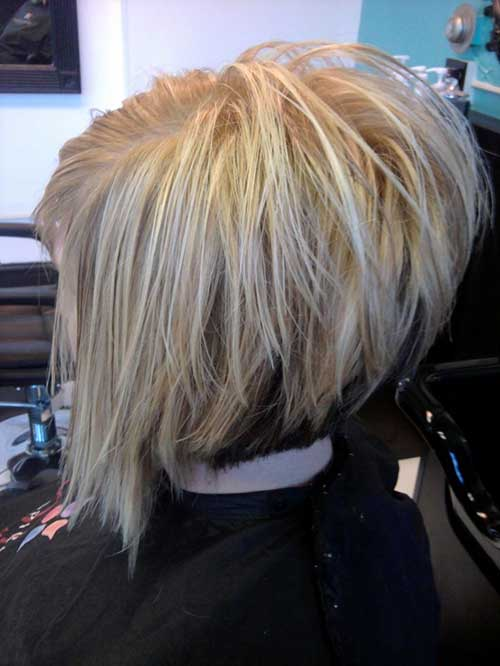 Blonde Stacked Layered Bob