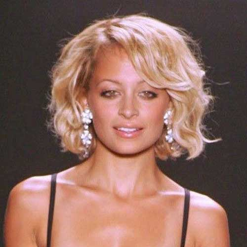 Thick Curly Blonde Bob Haircuts 2015