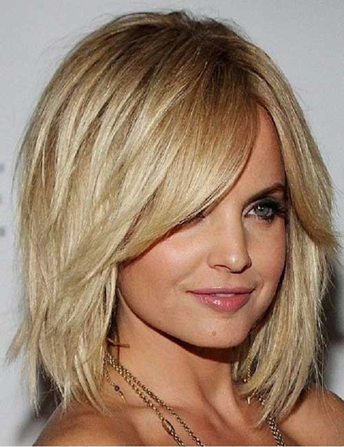 Thick Medium Layered Bob 2014 2015