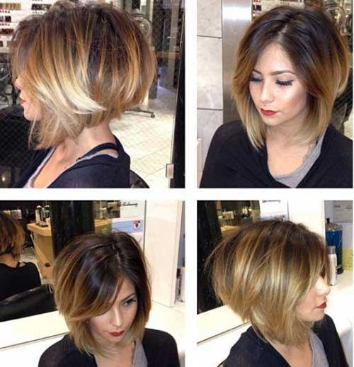 Thick Ombre Bob Hair Color