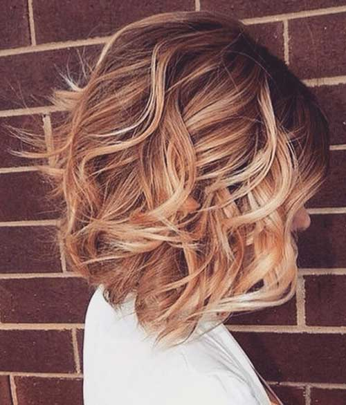 Wavy Bob with Blonde Color Ideas