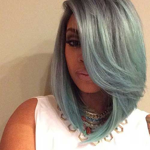 Weave Bob Hair Blue Color Ideas