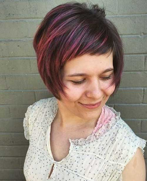 Short Bob Hairstyles with Side Swept Bangs-13