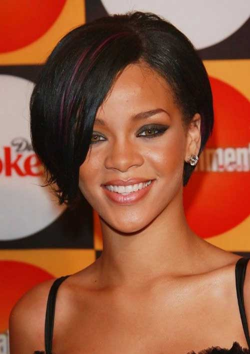 Short Bob Hairstyles with Side Swept Bangs-15