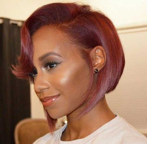 Short Bob Hairstyles for Black Women-15