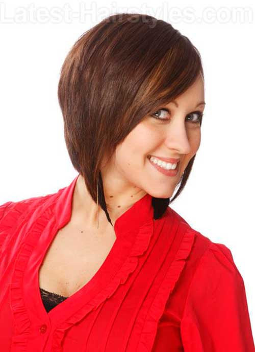 Angled Tapered Bob Haircuts