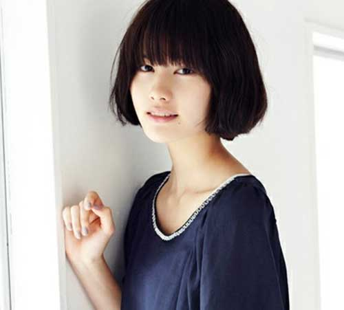 Best Asian Bob Hair with Bangs