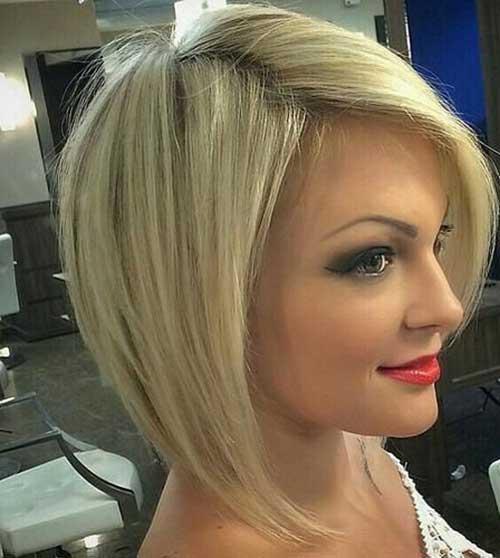 Asymmetric Blonde Bobs Hair