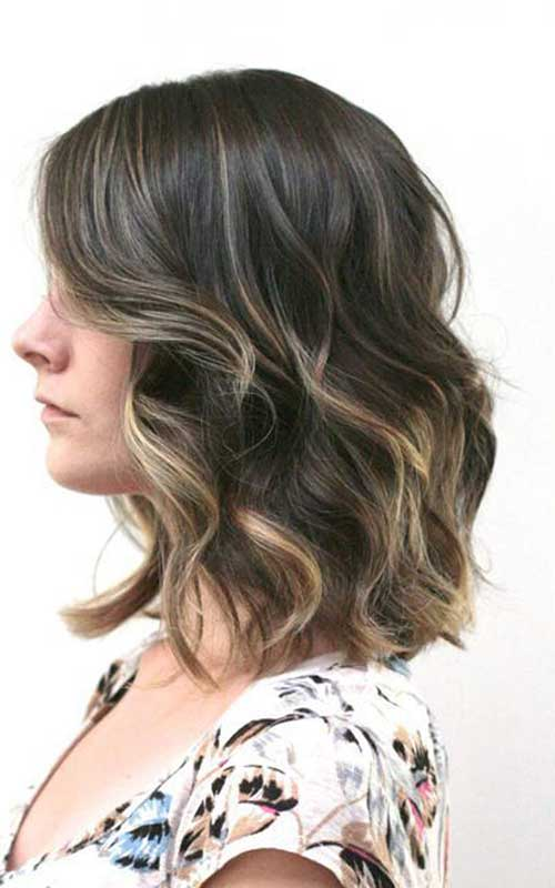 Soft Balayage Dark Bob Hair