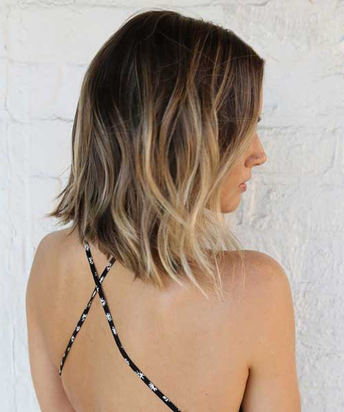Beach Blonde Ombre Bob Hairstyles