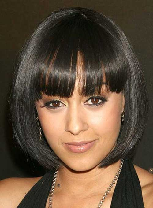 Black Women Short Blunt Bob Hairstyles