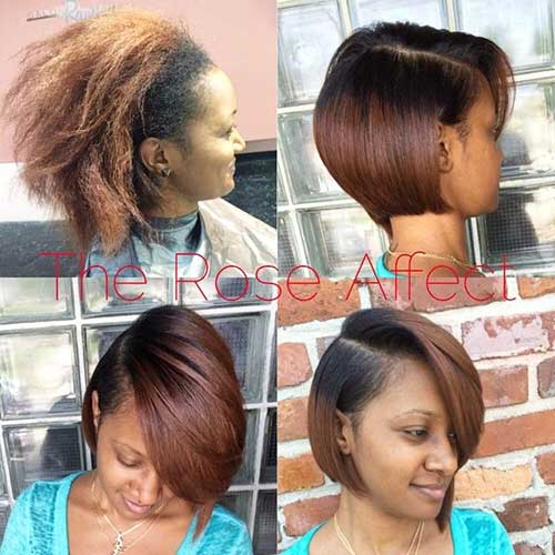 Black Women Short Bob Hairstyles