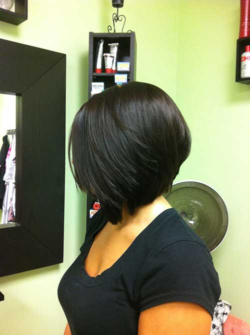 Black Woman with Inverted Bob Hairstyles