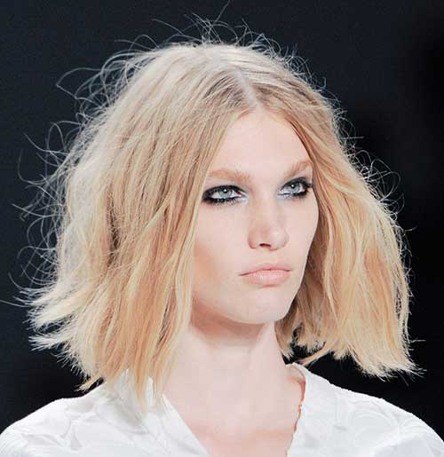 Blonde Messy Bob Hairstyles