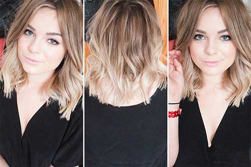 Blonde Ombre Long Bob Hairstyles