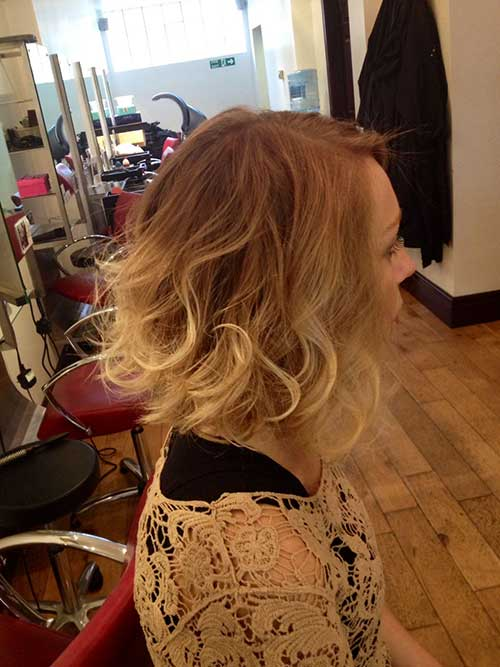Blonde Ombre Wavy Bob Hairstyles