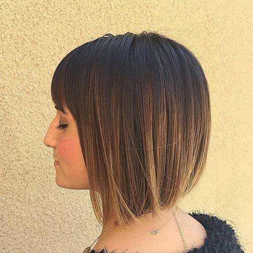 Short Bob Highlighted Hair Cuts for Woman