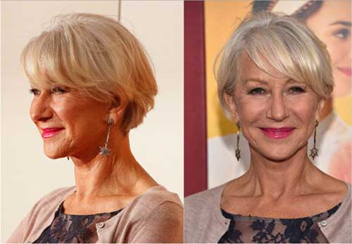 Short Bob Haircuts with Bangs for Over 50