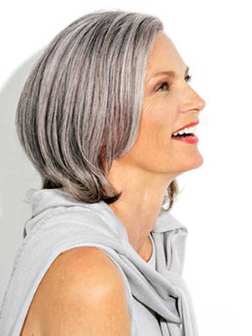 Silver Bob for Older Women