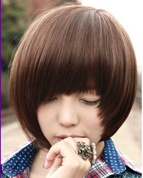 Bob with Bangs Korean Hairstyles