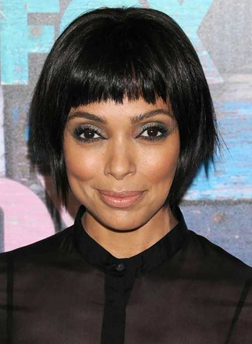 Best Bob with Blunt Bangs for Black Women