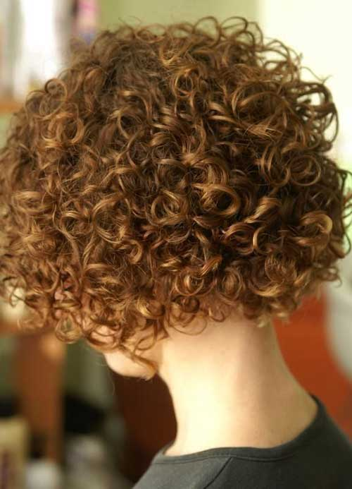 Bobbed Brown Curly Hairstyles