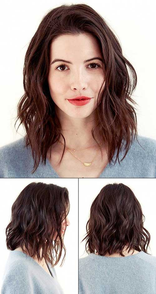 Sensational Long Wavy Bob Hairstyles With Bangs Best Hairstyles 2017 Hairstyle Inspiration Daily Dogsangcom