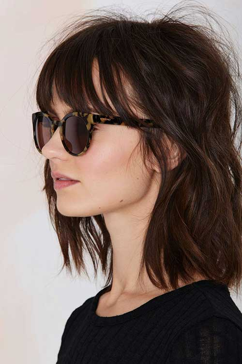 Trendy Brown Hair Color Bobs