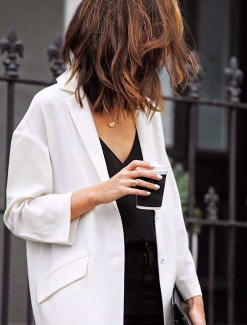 Brown Long Messy Bob Hairstyles
