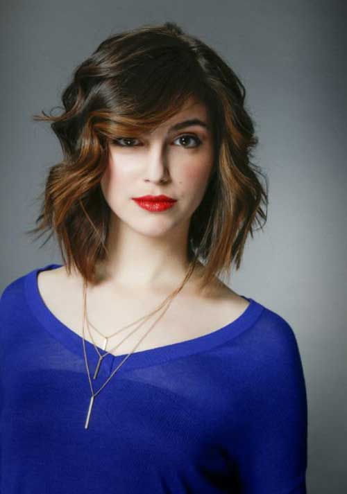 Brunette Long Bob Hairstyles for Women